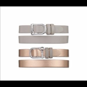 Jewelry - KEEP collective rose gold/taupe double wrap band